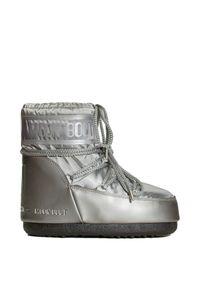 Buty zimowe Moon Boot z cholewką, na koturnie, glamour