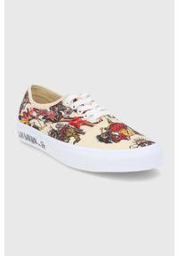 Vans - Tenisówki. Nosek buta: okrągły. Zapięcie: sznurówki. Kolor: beżowy. Materiał: guma