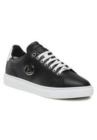 Baldinini - Sneakersy BALDININI - 196322XVIVI0090XXKBX Nero/Bi. Okazja: na co dzień. Kolor: czarny. Materiał: skóra. Wzór: aplikacja. Styl: elegancki, sportowy, casual