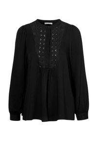 Freequent Bluzka z wiskozy Cillie Czarny female czarny M (40). Kolor: czarny. Materiał: wiskoza. Wzór: koronka. Styl: elegancki