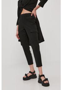 Czarne spodnie materiałowe Vero Moda casualowe, na co dzień, gładkie