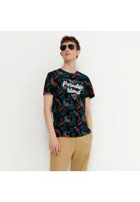 House - Koszulka z nadrukiem Paradise Island - Czarny. Kolor: czarny. Wzór: nadruk