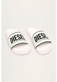 Białe klapki Diesel