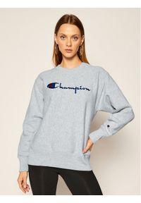 Champion Bluza Script Logo 113795 Szary Regular Fit. Kolor: szary