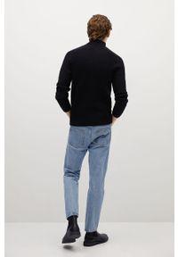 Niebieski sweter Mango Man na co dzień, z golfem, casualowy #8