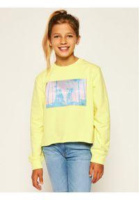 Żółta bluza Calvin Klein Jeans z nadrukiem