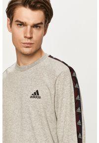 Adidas - adidas - Bluza. Okazja: na co dzień. Kolor: szary. Wzór: aplikacja. Styl: casual