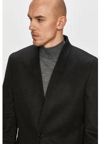 Czarny płaszcz Hugo bez kaptura, na co dzień, casualowy