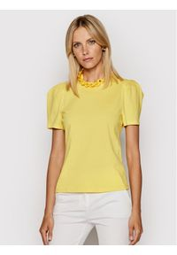 Imperial Bluzka TL85BAS Żółty Regular Fit. Kolor: żółty