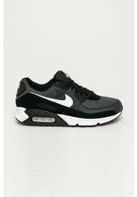 Czarne sneakersy Nike z cholewką, z okrągłym noskiem