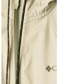 Zielona kurtka columbia z kapturem