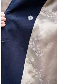 Marie Zélie - Trencz Adria bawełna z elastanem granatowy. Kolor: niebieski. Materiał: bawełna, elastan. Sezon: lato. Styl: klasyczny #6