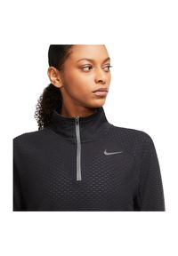 Bluza do biegania damska Nike Sphere CU3264. Typ kołnierza: kołnierzyk stójkowy. Materiał: materiał, poliester. Technologia: Dri-Fit (Nike). Długość: krótkie. Sport: fitness