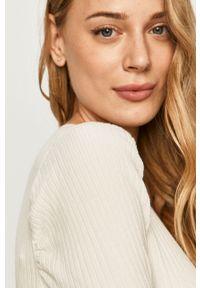 Biały sweter rozpinany Morgan