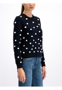 Niebieski sweter klasyczny Tory Burch