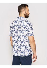 North Sails Koszula S/S Riviera Collar 664022 Biały Regular Fit. Kolor: biały