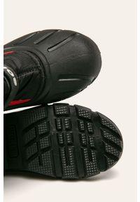 Czarne buty zimowe sorel z cholewką, na zimę