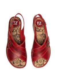 Czerwone sandały Fly London na co dzień, casualowe