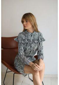 Sukienka Nommo z falbankami, z motywem zwierzęcym