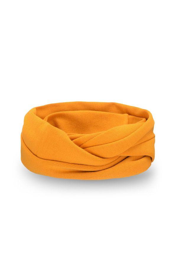 Komin damski PaMaMi - Miodowy. Kolor: pomarańczowy. Materiał: akryl