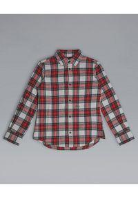DSQUARED2 KIDS - Flanelowa koszula w kratę 8-16 lat. Okazja: na co dzień. Kolor: czerwony. Materiał: bawełna, jeans. Długość rękawa: długi rękaw. Długość: długie. Sezon: lato. Styl: wizytowy, elegancki, casual