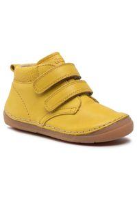 Froddo - Trzewiki FRODDO - G2130220-3 S Yellow. Kolor: żółty. Materiał: skóra. Styl: młodzieżowy