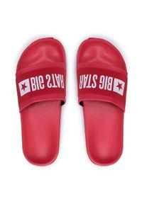 Big-Star - BIG STAR Klapki HH174832 Czerwony. Kolor: czerwony