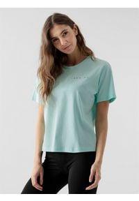 4f - T-shirt damski. Materiał: dzianina, bawełna