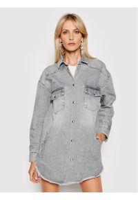 IRO Kurtka jeansowa Ygga A0207 Szary Oversize. Kolor: szary. Materiał: jeans