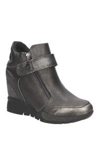Sergio Leone - sneakersy sergio leone 22661. Kolor: srebrny, wielokolorowy, szary. Materiał: skóra ekologiczna, materiał. Szerokość cholewki: normalna. Sezon: jesień, wiosna