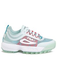 Zielone buty sportowe Fila do biegania