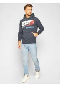 Superdry Bluza Vl O Primary Hood M2010431A Granatowy Regular Fit. Kolor: niebieski