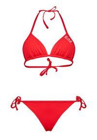 Czerwone bikini EA7 Emporio Armani