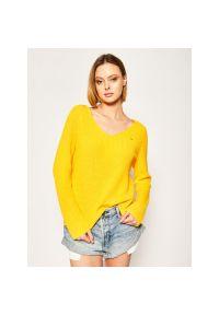 Żółty sweter TOMMY HILFIGER