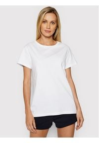 4f - 4F T-Shirt H4L21-TSD020 Biały Regular Fit. Kolor: biały