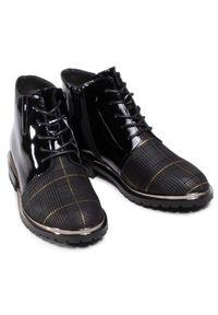 Czarne buty trekkingowe Sergio Bardi z cholewką