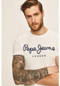 Biały t-shirt Pepe Jeans z nadrukiem