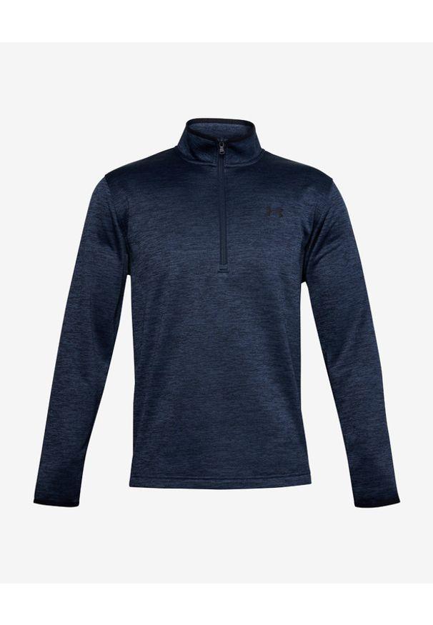 Niebieska bluza Under Armour bez kaptura, długa, w kolorowe wzory