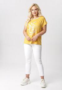 Born2be - Żółta Bluzka Lameriope. Kolor: żółty #3