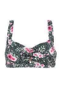 Cellbes Biustonosz od bikini bez fiszbin w kwiatki zielony w kwiaty female zielony/ze wzorem 90E. Kolor: zielony. Materiał: poliester. Wzór: kwiaty
