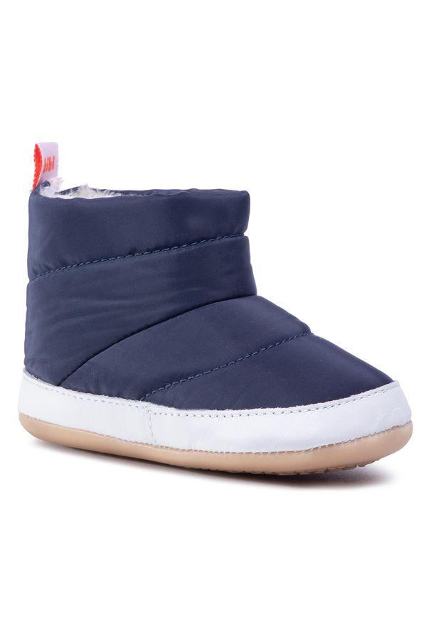 Niebieskie buty zimowe Bibi z cholewką, z cholewką przed kolano