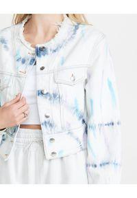 IRO - Kurtka jeansowa Loir. Kolor: biały. Materiał: jeans. Długość: długie
