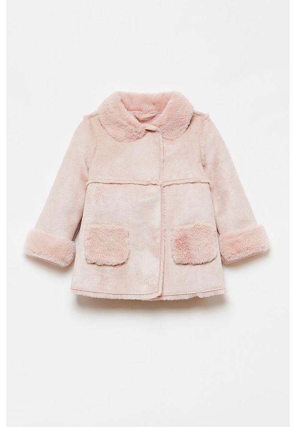 Różowy płaszcz OVS bez kaptura, na co dzień