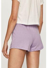 Biała piżama Brave Soul z nadrukiem, krótka