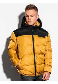 Żółta kurtka Ombre Clothing na zimę