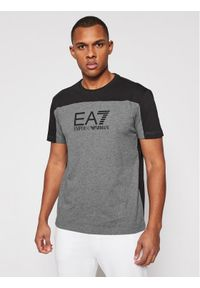 EA7 Emporio Armani T-Shirt 6HPT52 PJT3Z 3925 Szary Regular Fit. Kolor: szary