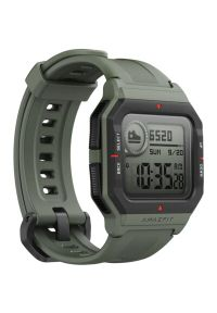 Zielony zegarek AMAZFIT retro, smartwatch