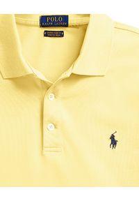 Żółte polo z krótkim rękawem Ralph Lauren klasyczne, polo, z aplikacjami