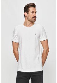 Biały t-shirt AllSaints casualowy, na co dzień