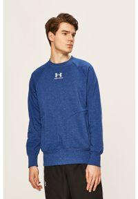 Niebieska bluza nierozpinana Under Armour melanż, raglanowy rękaw, bez kaptura